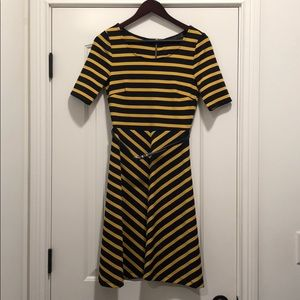 Limited navy and yellow belted dress. Size XS
